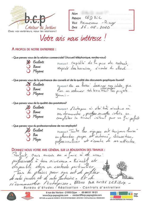 Avis 75, Primeaux-Prissey, Juillet 2020