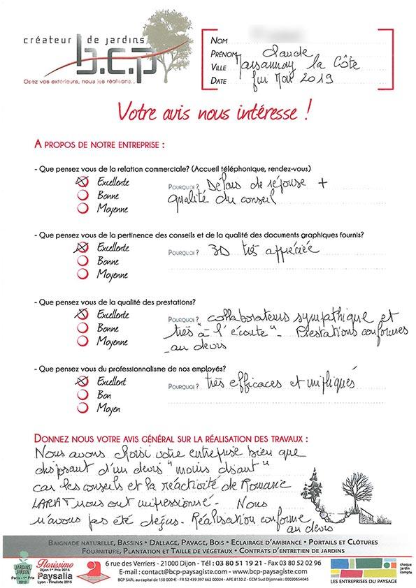 Avis 65, Marsannay-la-Côte, Mai 2019