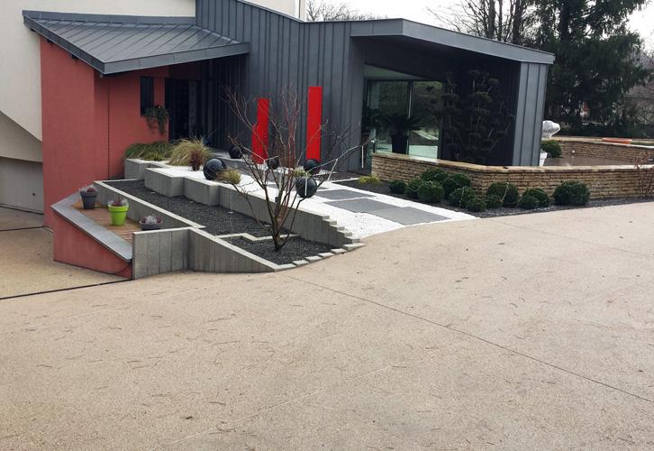 Le Beton Empreinte Desactive Pour Les Cours Et Terrasses