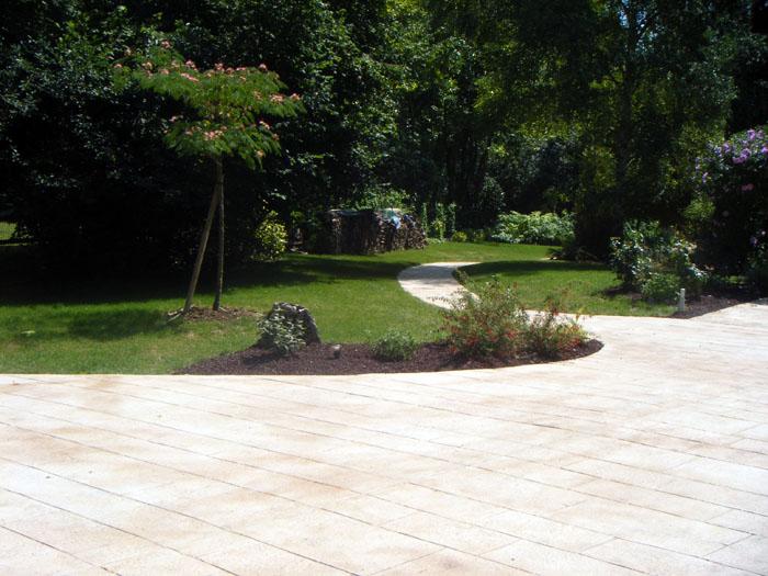 Nettoyage du beton desactive for Nettoyage terrasse eau de javel