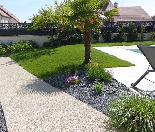 Création d'une piscine et aménagement des abords à Dijon  23